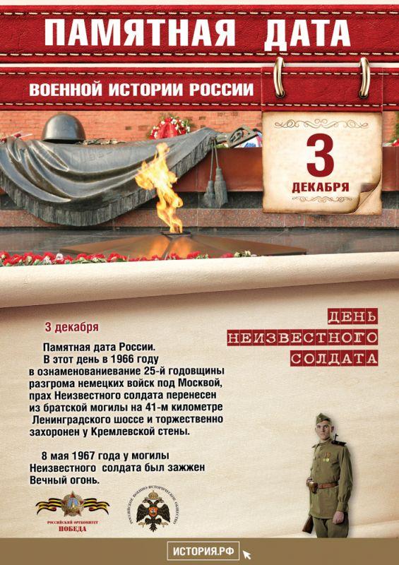 3 декабря. Памятная дата