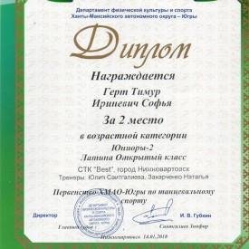 Диплом Герт Тимур, Ириневич Софья