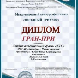 Международный конкурс – фестиваль «Звёздный триумф»