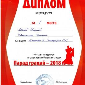 Турнир «Парад граций - 2018»
