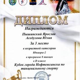 Диплом «Кубок г.Нефтеюганска»